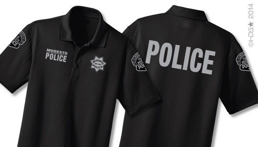 Hdg tactical modesto police department police for Embroidered police polo shirts