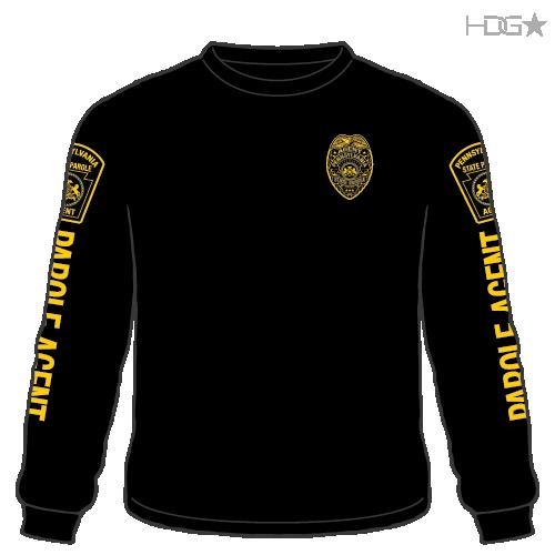 Pennsylvania Parole Agent Black Long Sleeve T-Shirt