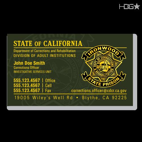 Cdcr business cards ca cdcr business card od green colourmoves