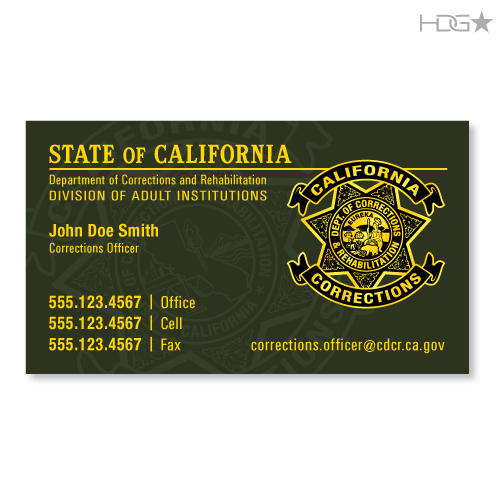 Cdcr business cards california correctional officer cdcr business cards colourmoves