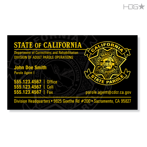 California Parole Agent Dapo Business Cards Hdg★ Tactical