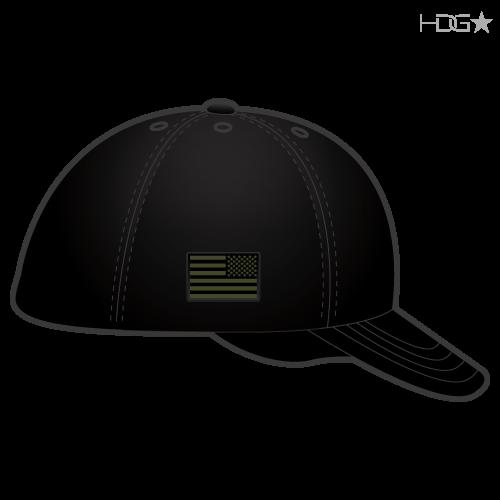 Cia Police K 9 Unit Black Od Green Flexfit 174 Hat Hdg
