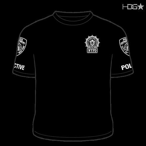 NYPD 23rd Precinct Detective Black T-Shirt - HDG☆ Tactical