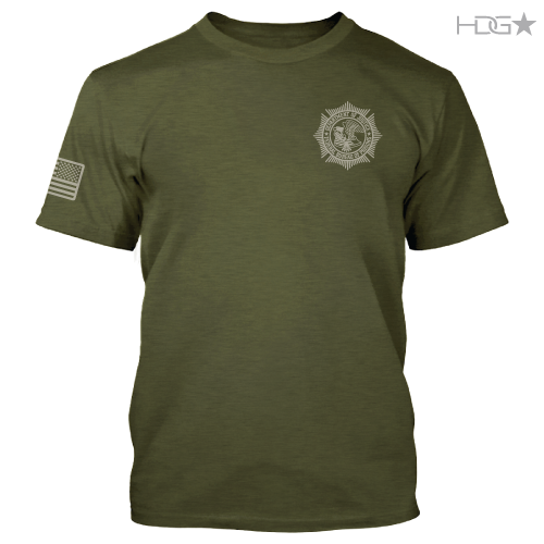 Bop Military Green Heather Premium Fitted T Shirt Hdg