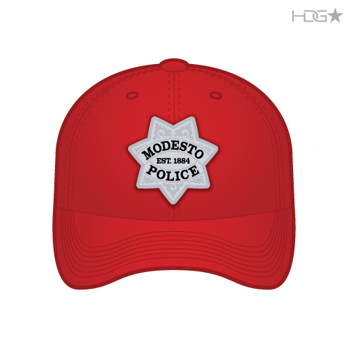 57c91bdb Modesto Police Range Instructor Red FLEXFIT® Hat - HDG☆ Tactical