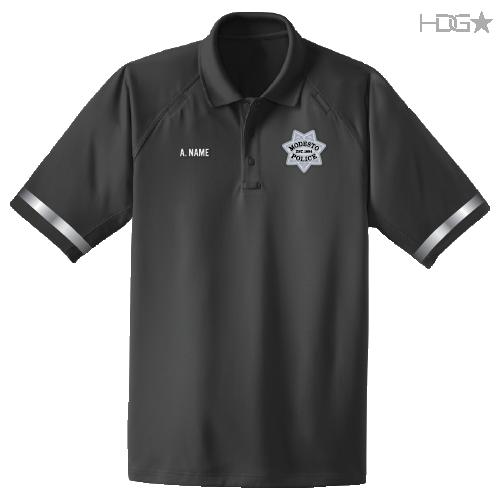 CA Modesto Police CSI Dk Grey Polo