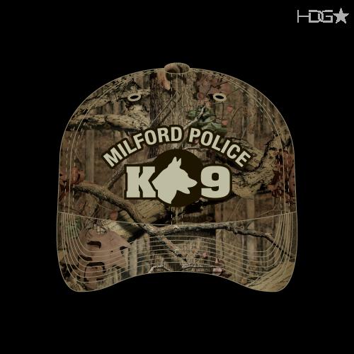 DE Milford Police K9 Camo Hat