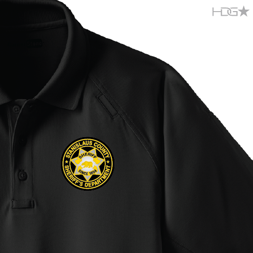 f94c02fe55ab5 Stanislaus County Sheriff Deputy Black Tactical Polo - HDG☆ Tactical
