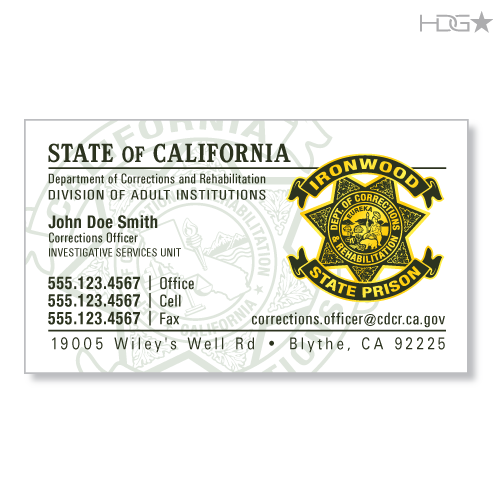 Police Officer Business Card Designs