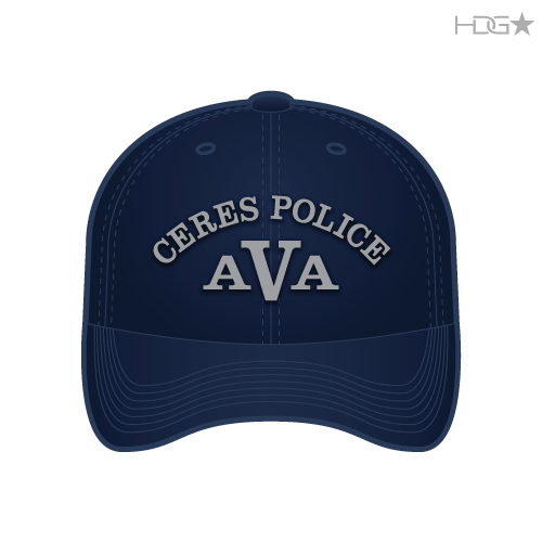CA Ceres Police AVA Navy Hat