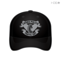 CA Ceres Police Traffic Black Hat