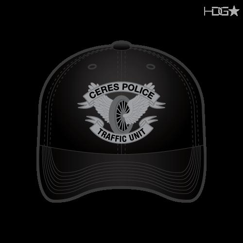 CA Ceres Police Traffic Black Hat