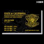 CA Parole DAPO Business Card (Black)