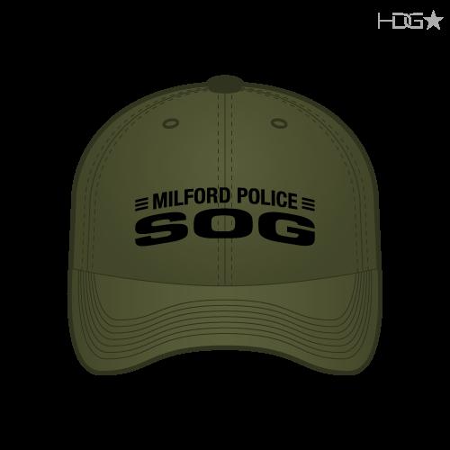 b7c36a2092a55 Milford Police SOG OD Green FLEXFIT® Hat - HDG☆ Tactical