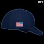 Navy Hat w/ Full Color Flag
