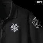 CA Modesto Detective Black Polo