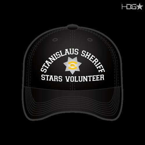 CA Stanislaus Sheriff Stars Volunteer Black Hat