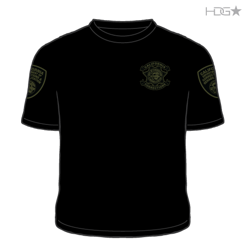Cdcr Police Black Od Green T Shirt Hdg★ Tactical
