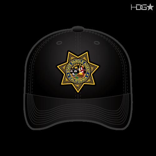 fc115ffb78c7a California Parole Agent Badge Black FLEXFIT® Hat - HDG☆ Tactical