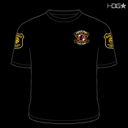 84c5bb01843e1 Stanislaus County Sheriff Dive Team Black Performance T-Shirt - HDG ...