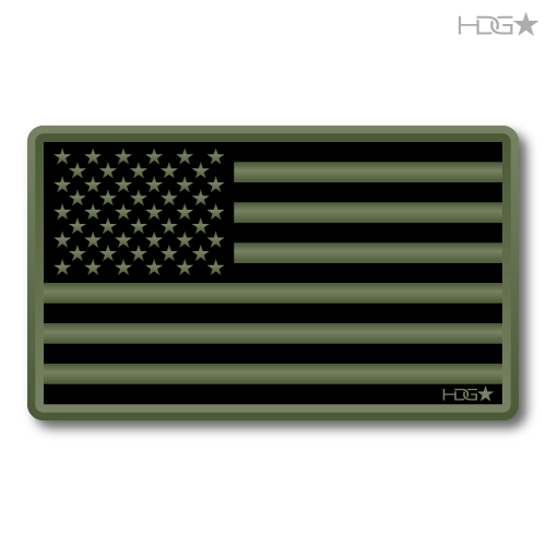 Us Flag Subdued Od Green Decal Hdg★ Tactical