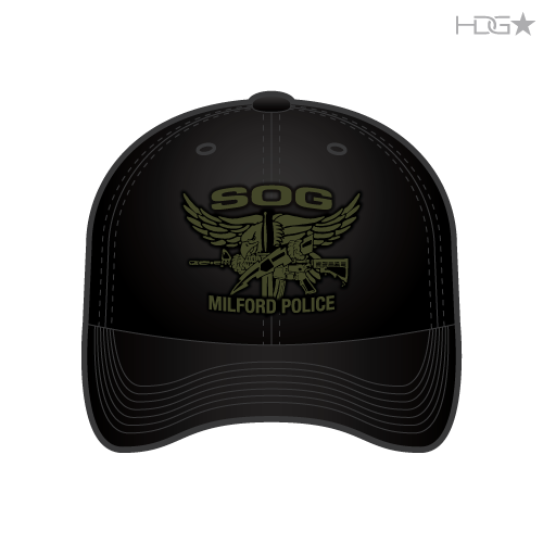 263ffc55 Milford Police SOG Black FLEXFIT® Hat - HDG☆ Tactical