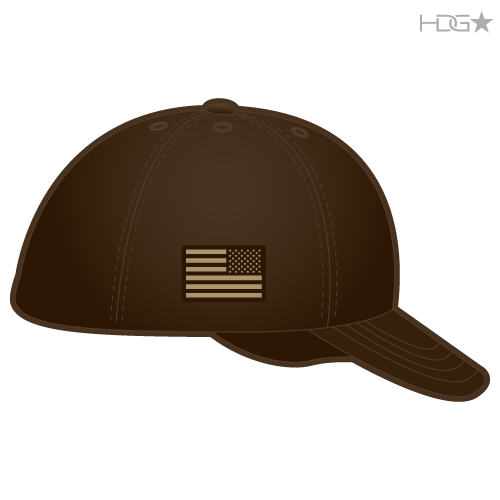 Esmeralda County Sheriff Brown Tan Badge Flexfit 174 Hat