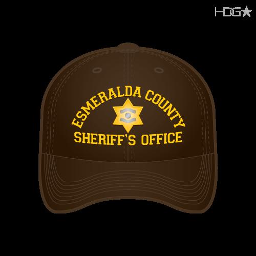 d8f296f832081 Esmeralda County Sheriff Brown Yellow Badge FLEXFIT® Hat - HDG ...
