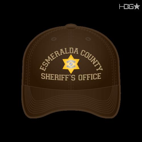 9d1978150c5c3 Esmeralda County Sheriff Brown Tan Badge FLEXFIT® Hat - HDG☆ Tactical