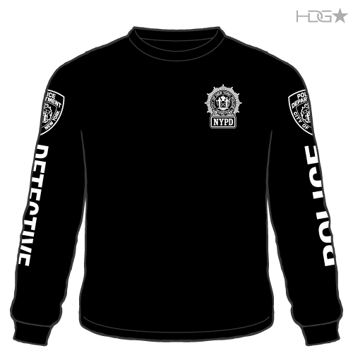 da4d3f1ca NYPD 23rd Precinct Detective Black Long Sleeve T-Shirt - HDG☆ Tactical