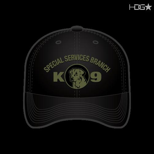 b80c22a29fdde CIA Police K-9 Unit Black OD Green FLEXFIT® Hat - HDG☆ Tactical