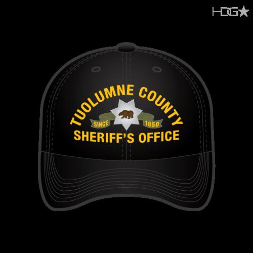 8fd396988e0 Tuolumne County Sheriff Deputy Black FLEXFIT® Hat - HDG☆ Tactical