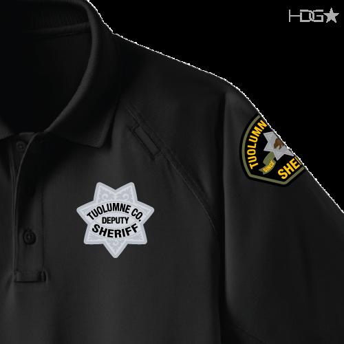 74b9da35520cb Tuolumne County Sheriff K-9 Unit Black Tactical Polo - HDG☆ Tactical