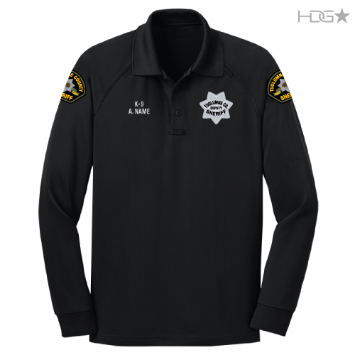 Tuolumne County Sheriff K 9 Unit Black Long Sleeve