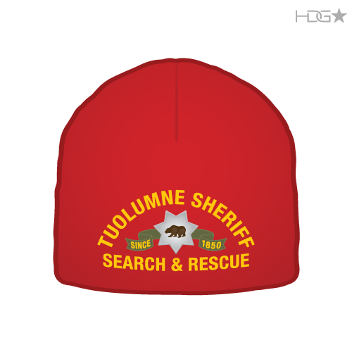 Tuolumne County Sheriff Search & Rescue Red Beanie