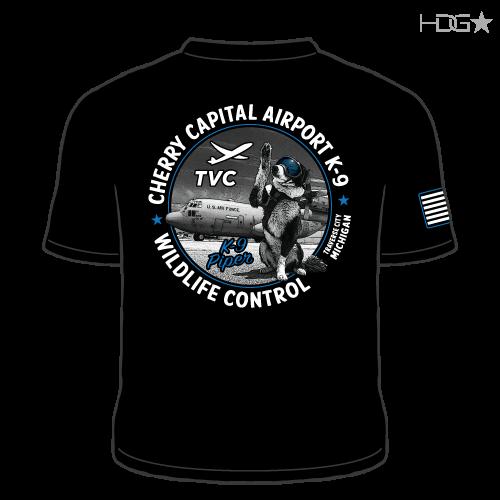 Cherry Capital Airport (TVC) K-9 Team T Shirt