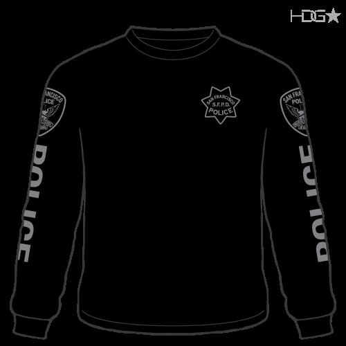 San Francisco Police Narcotics Unit Black Long Sleeve T-Shirt