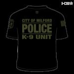 Milford Police K-9 Unit Black / Grey T-Shirt