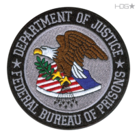"BOP Seal Patch Embroidered with ""Department of Justice"