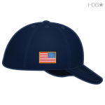 Navy Hat with Full Color Flag