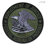 """BOP Seal Patch Embroidered with """"Department of Justice"""